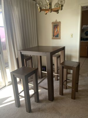 Tall brown wooden table for Sale in Alameda, CA