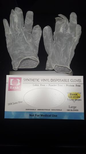 1000 Case | Clear Vinyl Gloves | No Powder -> Small Medium Large X-Large available for Sale in Los Angeles, CA