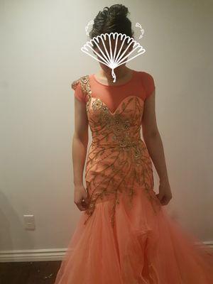 Coral and Gold Elegant Dress for Sale in San Bernardino, CA