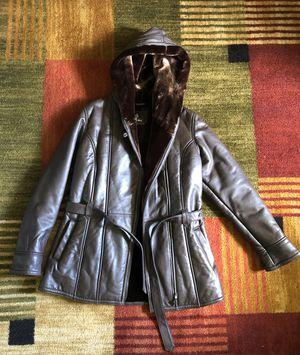 Leather coat for Sale in Lorton, VA