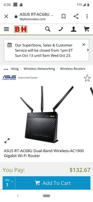 Asus router a/c 68u gaming for Sale in BVL, FL