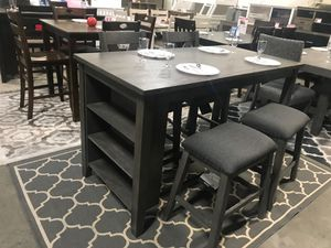 Ashley Furniture Counter Height Dining Set, Grey Finish for Sale in Fountain Valley, CA