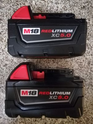 Milwaukee 18 Volt Battery - XC5.0 for Sale in Houston, TX