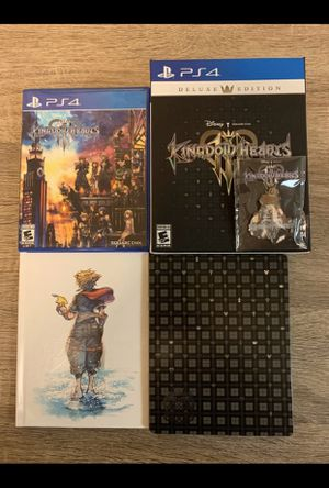 Kingdom Hearts 3 Deluxe with poster for Sale in Alafaya, FL