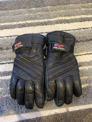 Used Polaris Leather Snowmobiling Gloves for Sale in Centennial, CO