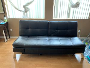 Leather futon for Sale in Las Vegas, NV