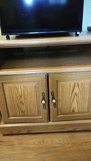 Microwave Table with storage doors, $25. for Sale in New Franklin, OH