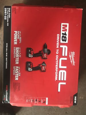 M18 fuel hammer drill and impact driver kit. for Sale in Philadelphia, PA