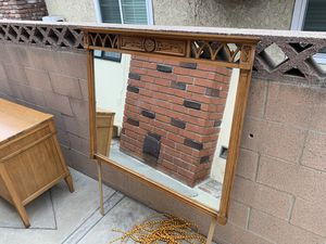 Antique Solid Wood Mirror (FREE- PICK UP ONLY) for Sale in La Mirada, CA