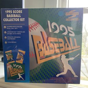 1995 Score Baseball Card collectors Kit, Still New & Sealed!26 Unopened Packs, Jeter & Arod Rookies! for Sale in Monroe Township, NJ