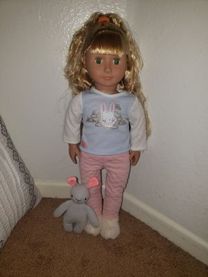 Our Generation doll with plush toy for Sale in Los Angeles, CA