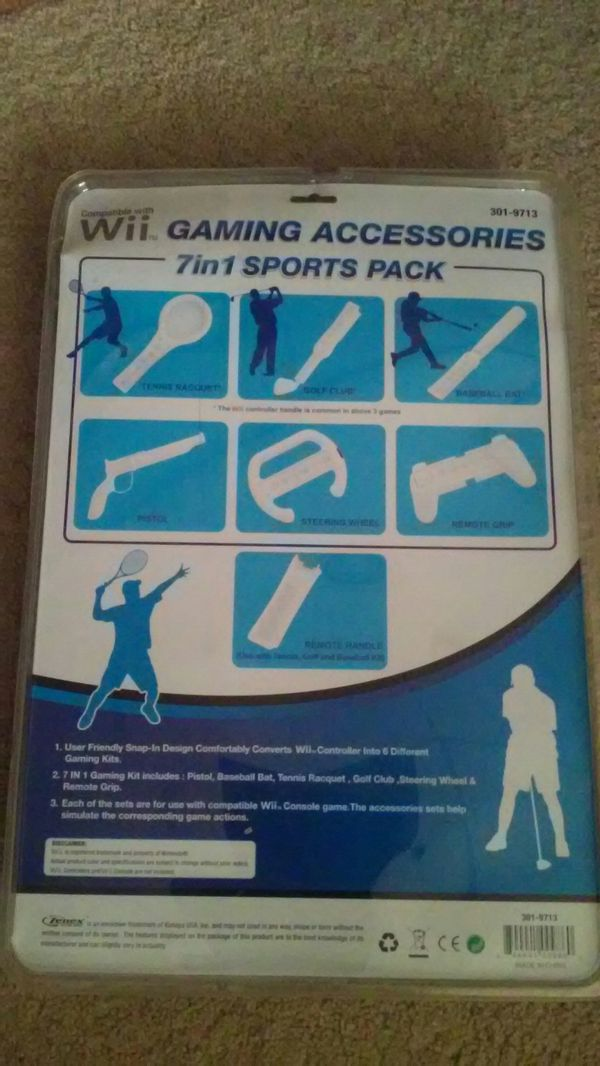 BRAND NEW... GAMING ACCESSORIES SET FOR SPORTS 7 IN 1 PACKAGE.