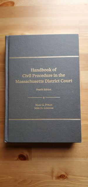 Handbook of Civil Procedure in the Massachusetts District Court for Sale in New York, NY