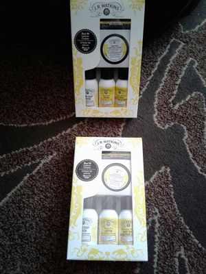 J.R. Watkins Lemon travel sets (soap, lotion, lip care etc). Both new $10 for Sale in Everett, WA