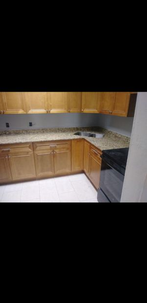 Complete all wood kitchen with countertops for Sale in Delray Beach, FL