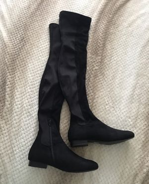ASOS black thigh high boots size 8 for Sale in Houston, TX