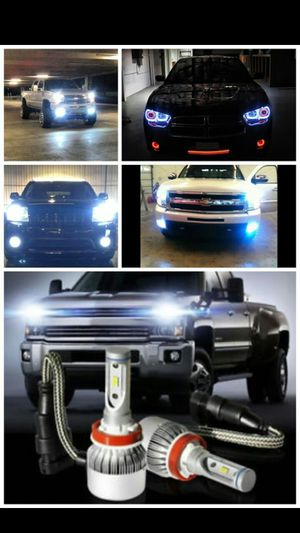 Led headlight bulb kit and hid headlight conversion kit lights- any bulb size- Ford f150 f250 fusion explorer expedition mustang chevy Tahoe for Sale in Phoenix, AZ
