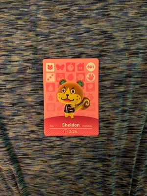 Animal Crossing Amiibo Card Sheldon for Sale in Morgantown, WV