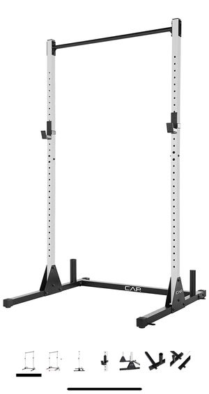 Cap squat rack 500 lbs weight capacity bench press pull up bar for Sale in Los Angeles, CA
