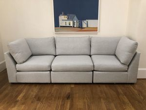 Brand New Bassett Furniture Grey Module Sectional Couch Sofa 3 Pieces Retail $2850 Plus Tax for Sale in Raleigh, NC