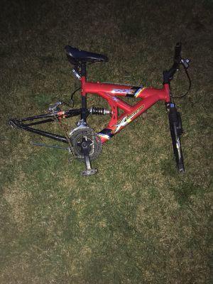 Red full suspension mountain bike for Sale in Warren, MI