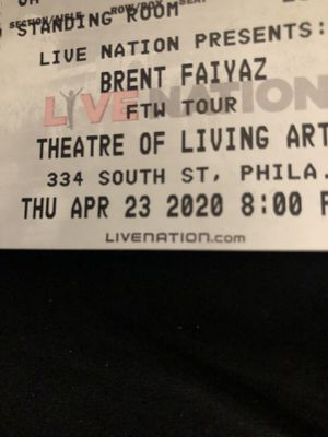 Brent faiyaz tickets for sale Philadelphia show for Sale in Quakertown, PA