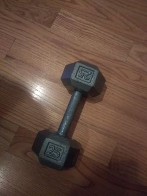 25lb dumbbell for Sale in Cambridge, MA