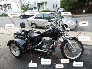 2004 Honda Shadow 600 VLX Deluxe Trike for Sale in Lowell, MA