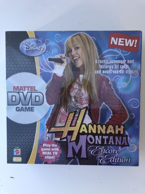 Hannah Montana DVD game by Mattel (NIB) for Sale in Berkeley Springs, WV