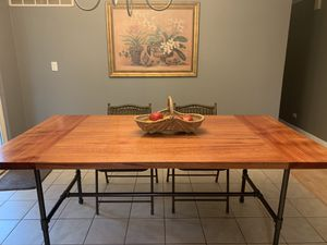 Handcrafted Mahogany Dining Table for Sale in Elgin, IL