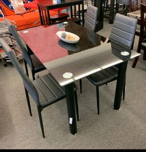 🍻39 DOWN🍻Brand New 7-Piece Black Dining Set.[ Table & 6 Side Chairs ] SAME DAY DELIVERY for Sale in Houston, TX