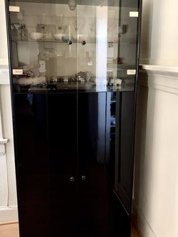 Black Lacquered China Cabinet for Sale in Glendale,  CA
