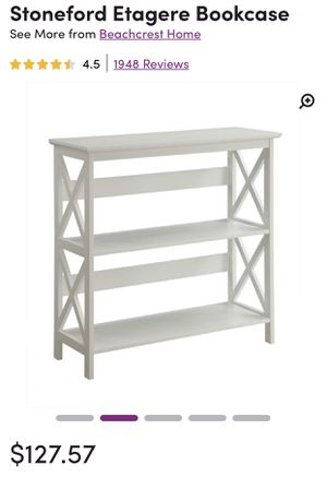 White Wayfair Bookcase for Sale in New York, NY