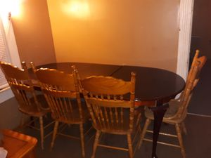 Wood table and chairs. for Sale in Salina, KS