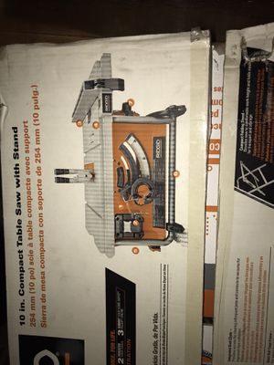 Brand new table saw with stand never been used asking 300$ lmk for Sale in Los Angeles, CA