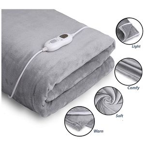 """Electric Throw Heated Blanket - 50"""" x 60"""" Flannel & Sherpa Fast Heating Blanket, 3 Heating Levels, 8 Hours Auto Off - Electric Blanket, Heated Mattre for Sale in Birmingham, AL"""