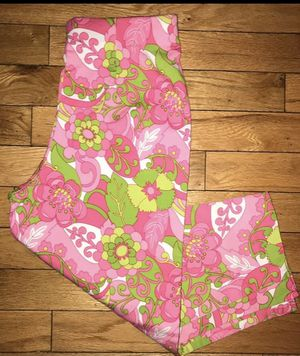 Hot Pink & Lime Green Floral Print size 6P Carpi Pants for Sale in Woburn, MA