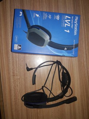 PS4 LVL1 chat headset. for Sale in Wichita, KS