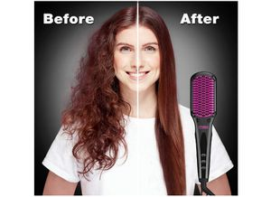 TYMO Hair Straightener Brush - Enhanced Ionic Straightening Brush with 16 Heat Levels for Frizz-Free Silky Hair, Anti-Scald & Auto-Off for Sale in Rancho Cucamonga, CA