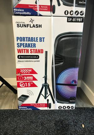 Portable BT speaker 3000W for Sale in Hialeah, FL