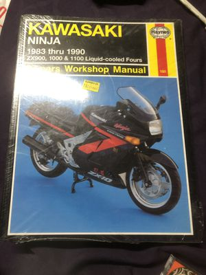 Motorcycle repair book. Kawasaki ninja 1983-1990 for Sale in Fountain Valley, CA