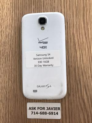 Samsung Galaxy S4 16GB Verizon Unlocked for Sale in Orange, CA