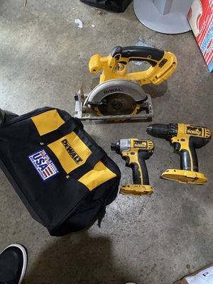 Dewalt 18v Tool Set. Circular Saw, Impact Driver, Driver, and Dewalt Bag for Sale in Fresno, CA