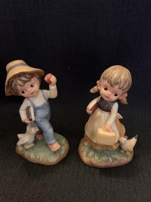 Napcoware Porcelain boy and girl figures for Sale in Virginia Beach, VA