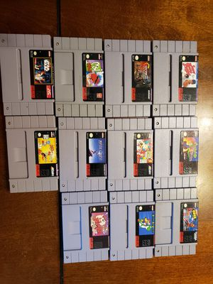 11 Super Nintendo games for Sale in Cottage Grove, MN