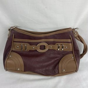 Used Rosetti Purse Handbag Braided Handles BROWN Burgundy Free Shipping for Sale in Peoria, IL