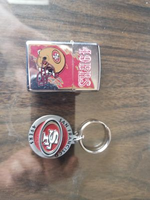 49ers zippo and key chain for Sale in Fresno, CA