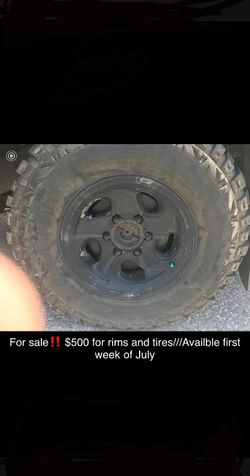 500 rims and tires need em gone! for Sale in Greenville,  AL