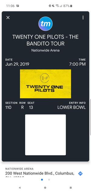 Twenty One Pilots tickets (2) for Sale in Columbus, OH