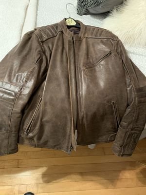 Leather motorcycle jacket for Sale in Island Lake, IL
